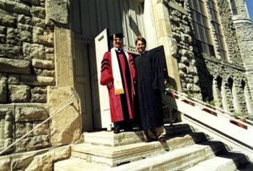 Gilliland with Professor of History Emeritus Rev. Richard Thomas.