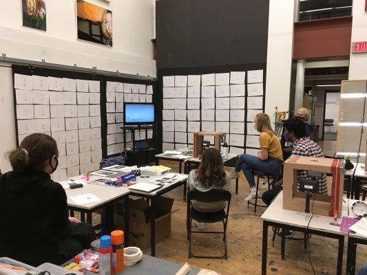 Digital Art Class watching a screen