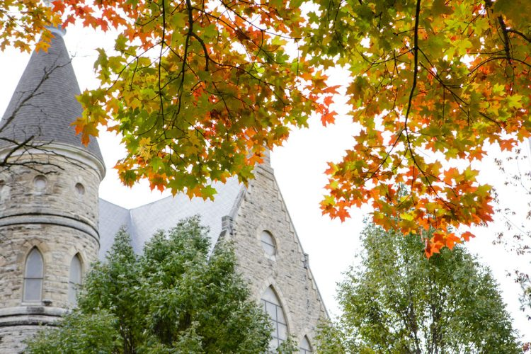 King Chapel with fall tree colors
